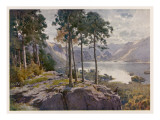 Lake District: Derwentwater from Castle Head, with Lodore at the Centre Giclee Print
