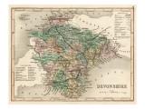 Map of Devon Giclee Print