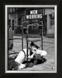 Men Working Framed Giclee Print