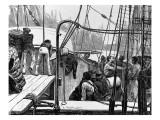 Landing Cotton at Liverpool, 1875 Giclee Print