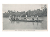 Mary Kingsley on the Ogowe River, Gabon, During Her Travels There Between 1862 and 1900 Giclee Print