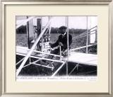 Orville Wright Biplane Framed Giclee Print