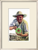 Texaco Grease Framed Giclee Print