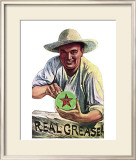 Texaco Grease Framed Giclee Print