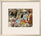 Flower Vendors Framed Giclee Print