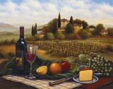 Terrace at Chianti Affiches par Joe Sambataro