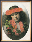 Hawaiian Girl Framed Giclee Print