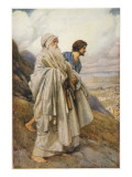 Moses and Joshua Descend from Mount Sinai Giclee Print