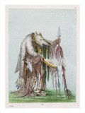 Native American Medicine Man from the Blackfoot Tribe Giclee Print