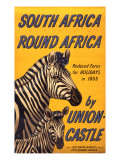 South Africa Round Africa Giclee Print