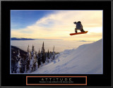 Attitude: Snow Boarder Prints
