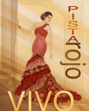 Pista Rojo Posters