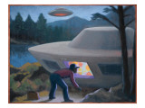 Steven Michalak Encounters a UFO at Falcon Lake, Canada Giclee Print by Michael Buhler