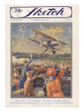 Sketch Front Cover: RAF Display at Hendon Airfield by C.E. T Giclee Print