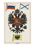 Russian Coat of Arms and Flags Giclee Print