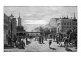 Street Scene at the Alexanderplatz Station Giclee Print
