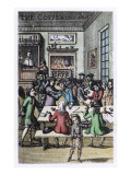 Socialising in a London Coffee House Giclee Print