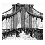 The Brooklyn Bridge, New York, 1883 Giclee Print