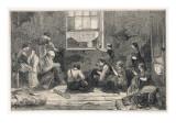 Tailors Work in Slum Giclee Print