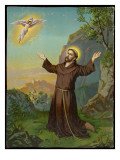 Saint Francis of Assisi - Receiving the Stigmata Giclee Print