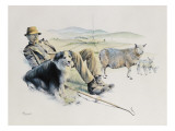 Shepherd at Rest Giclee Print by Malcolm Greensmith