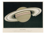 Saturn Observed by L. Trouvelot from a French Observatory Giclee Print
