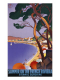 Summer on the French Riviera Giclee Print