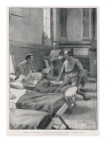Sir Arthur Conan Doyle Dr Doyle Visiting Wounded Canadians During the Boer War Giclee Print