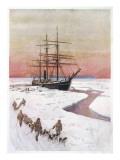 Scotts Ship, the Terra Nova Giclee Print