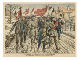 Striking French Miners Process Through the Pas De Calais Giclee Print