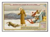 Saint Francis of Assisi Befriends the Wolf of Gubbio Giclee Print
