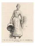 The Housemaid Brings Up a Scuttle Full of Coal Giclee Print