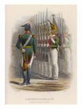 Russia : Tsar Nicholas I Reviews His Guardsmen Giclee Print
