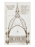 St Paul's Cathedral - Section Through Wren's Dome Giclee Print