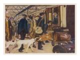 Scene at Euston Station Giclee Print