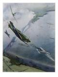 Spitfires over Forth Giclée-tryk