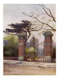 The Entrance to the Apothecaries' Garden (The Old Physick Garden), Chelsea, London Giclee Print