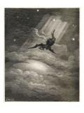Satan Flies to Earth Giclee Print