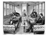 Saloon Carriage of the London , Brighton and South Coast Railway Giclee Print