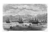 The Mediterranean Harbour and Naval Base of Toulon, Seen from the Sea Giclee Print