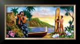Surfing in Paradise Print by Warren Rapozo