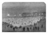 Skating in Central Park, New York, 1865 Giclee Print