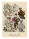 Six Ladies in Brightly Coloured, Elaborate and Fashionable Gowns Giclee Print by Philip Talmage