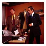 Tailors in Saville Row 1970s , Shop, Shopping, Suit, Suits, Workplace Giclee Print