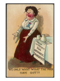 Suffragette Mocked Giclee Print