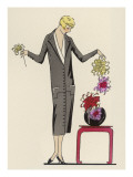 She Arranges Flowers Giclee Print