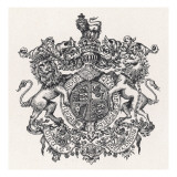 Royal Coat of Arms of Britain During Edward VII's Reign Giclee Print