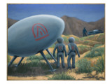 Socorro Sighting 1964 Giclee Print by Michael Buhler