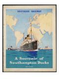 Ships at Southampton Giclee Print