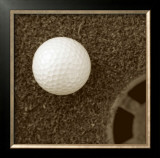 Sepia Golf Ball Study I Art by Jason Johnson